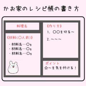 レシピ帳の書き方の画像