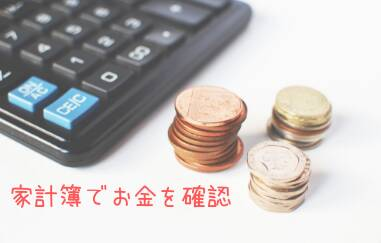お金を使わない日は家計簿でお金を確認